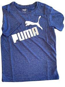 PUMA Little Kids Athletic T-Shirt Sizes 4, 5, 6, 7 Blue Brand New