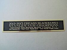 Chicago Blackhawks 12-13 Stanley Cup Nameplate For A Signed Hockey Photo 1.25X6