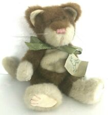 "Boyds Bears Jointed CAT 11"" Bean Plush GREEN BOW w/Tag"