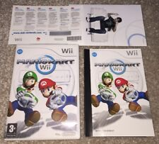 NO GAME! Super Mario Kart Wii Box Art Sleeve And Manual Only Nintendo Wii
