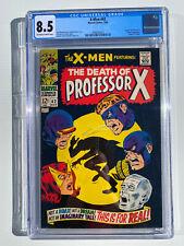 """X-MEN #42 CGC 8.5 1968 """"Death"""" of PROFESSOR X, CYCLOPS Origin"""