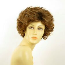 short wig women curly brown copper wick light blond ref KIMBERLEY 6bt27b PERUK