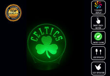 BOSTON CELTICS NBA 3D Acrylic LED 7 Colour Night Light Touch Table Lamp