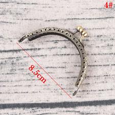 Retro Alloy Metal Flower Purse Bag DIY Craft Frame Kiss Clasp Lock Bronze 4# 8.5cm