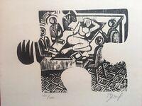 Serigraph by Abel Barroso Arencibia, La Huella Multiple.