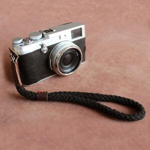 Black Digital Mirrorless Camera Wrist Hand Strap Soft Cotton Linen New Typ NEW