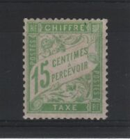 """FRANCE STAMP TIMBRE TAXE N° 30 """" TYPE DUVAL 15c VERT-JAUNE """" NEUF xx LUXE T658"""