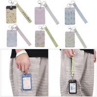 Leather Cartoon Keychain Keyring Tool Credit Card Bag ID Card Holder Badge Case