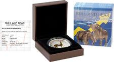 1 Rand Südafrika 2017 - 1 OZ Springbok Bull&Bear Blueline 2017