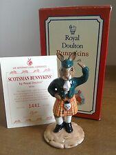 Bunnykins Scotsman DB180 Royal Doulton edizione limitata 1441/2500 Nuovo di zecca
