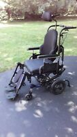 SUNRISE IRIS QUICKIE TILT /  RECLINING WHEELCHAIR WITH JAY CUSHION PRODUCTS