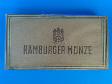 Vintage Wooden Cigar Box - HAMBURGER MUNZE - Drewniane pudełko po cygarach