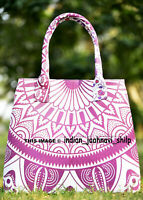 Indian Handbag Tote Bag Mandala Cotton Purse Lady Shoulder Women Satchel Multi