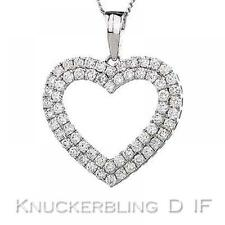 White Gold IF Fine Diamond Necklaces & Pendants