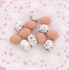 6 x realistico in miniatura uova 3d Cabochon Abbellimenti Pasqua decorative Crafts