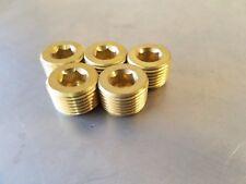 "Brass Male Hex Pipe Plug 1/2"" NPT MPT MIP Countersunk Allen Key Fitting  5Pcs."