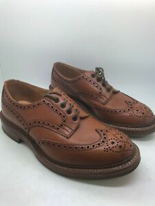 TRICKERS Leather Brown / Tan Brogues, UK: 7 1/2 - 8 RRP £465 used £50
