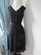 Gorgeous BNWT KALIKO  Black evening party prom Dress beaded size 8 fit sz 10