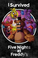 FIVE NIGHTS AT FREDDY'S - I SURVIVED POSTER - 22x34 - 15845
