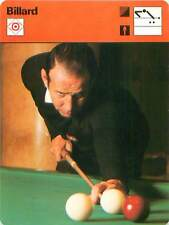 FICHE CARD Sport Sportif Billard Edmond Craveuleuse France Billes Snooker 70s