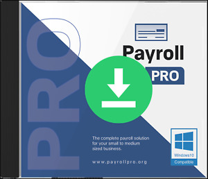 Payroll PRO software for Windows 10 - Download - Includes 12 month license