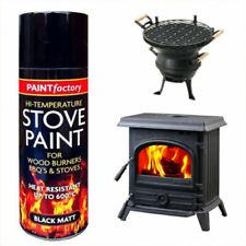 Heat Resistant Matt Black Spray Paint Stove High Temperature paint 400ml - 1436
