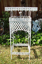 SOLD** Vtg Antique Victorian Iron French Garden Patio Plant Stand  CHIC & SHABBY
