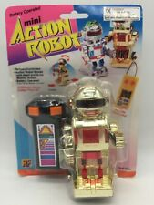Vintage Toy Mini Action Robot Gold Remote Control Controlled Space Toys 80's #3