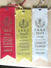 8 TRACK 1938 /39 SPORT COMPETITION AWARD RIBBONS S.N.N.C.  CARLETON