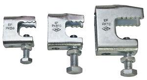 10 Stück Trägerklammern  Stahl verzinkt