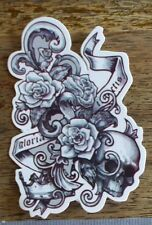 "Sticker Aufkleber ""Skull & Roses"" Glanz-Optik Stickerbomb Skateboard Laptop"