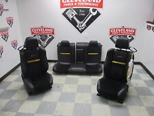 12-14 Challenger Srt 8 Yellow Jacket Front Rear Seats Black Leather Blown Bag