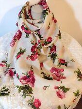 Rose laine écharpe