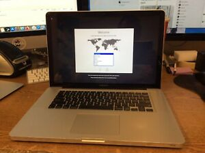 "Apple Macbook Pro 15.4"" MD104LL/A Core i7  2.6Ghz  8GB Ram  500GB HDD Read Desc"