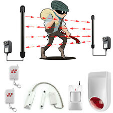 2 Beams Driveway Patrol Infrared Wireless Alarm System Motion Sensor Security