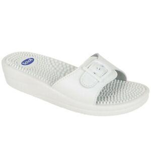 Scholl New Massage Sandals - White
