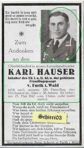 2WK Sterbebild WH Luftwaffe Pilot EK1 Frontflugspange KG27 Boelcke WW2 deathcard