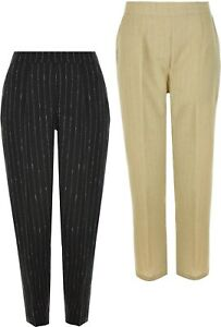 Womens Trouser Half Elasticated Waist Side Pockets Inside Leg 27 Inches KK47