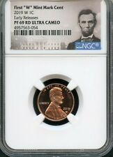 "2019 W First ""W"" Mint Mark Cent EARLY RELEASES NGC PF69 RD U.C. Portrait"