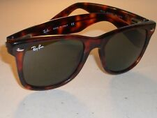 RAY BAN RB2113 50[]19 TORTOISE FLEXIBLE HINGES G15 CRYSTAL WAYFARERS SUNGLASSES