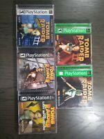 PS1 Tomb Raider Lot of 5 Original Games!  🔥