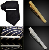 1 PC Mens Gold Silver Plain Solid Skinny Commercial Tie Clip Clasp Bars Pins EY