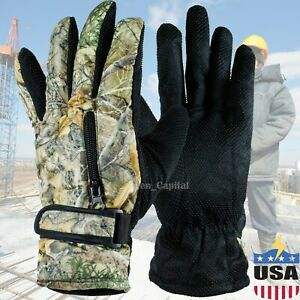 Mens Womens WInter Thermal Non-Slip Warm Windproof Snowboard Ski Driving Gloves