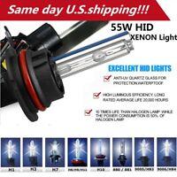 Pair 55W 6000K Xenon Lights HID Kit Bulbs  Headlight H1 H3 H7 H8/H9/H11 9006/HB4