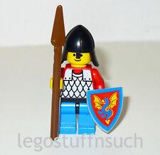 Lego Classic Castle BLACK Knight dragon minifigure figure shield spear 6085 army