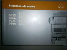 Mercedes 1635 1644 1935 1944 2035 2235 2244 2635 2644 : Notice d'entretien 1987