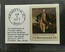US Bicentennial American Revolution Washington 13c stamp GMA Gem Mint 10