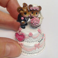 WEE FOREST FOLK - TM-8 WEE WEDDING PAIR (SPECIAL ORDER HEART AND NAME)