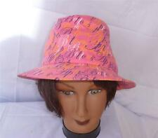 """Apple Bottoms """"Picked Fresh Daily"""" 100% Cotton Hot Pink & Multicolor Fedora Hat"""
