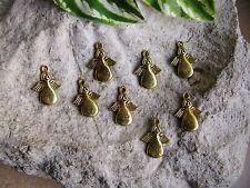 8 Metallanhänger Engel goldfarben, Made for an Angel, Anhänger, Perlen basteln